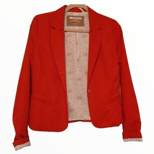 Bershka relaxed fit Red blazer